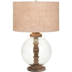Mahin Wood and Glass Lamp, Transparent found on Bargain Bro Philippines from Ashley Furniture for $226.99