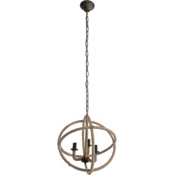 Home Accents Rope Chandelier, Antique Bronze Finish found on Bargain Bro Philippines from Ashley Furniture for $153.00
