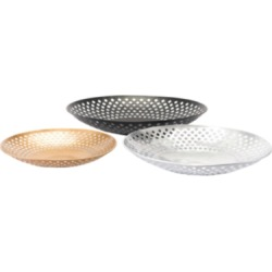 Home Accents Shallow Bowls (Set of 3), Multi