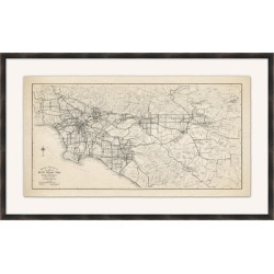Giclee Los Angeles Wall Art, Black/Gray found on Bargain Bro India from Ashley Furniture for $335.99
