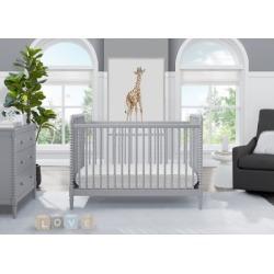 Delta Children Saint 4-in-1 Convertible Crib, Gray