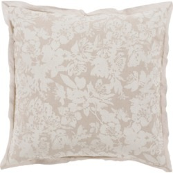 Floral Pattern Euro Sham, Light Gray/White found on Bargain Bro Philippines from Ashley Furniture for $44.99