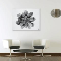 Succulent Watercolor Black and White 24X36 Metal Wall Art, Black/Gray/White found on Bargain Bro India from Ashley Furniture for $279.99