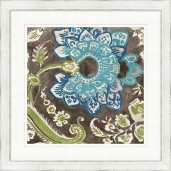 Giclee Flower Patterned Wall Art, Brown/Blue/Green found on Bargain Bro India from Ashley Furniture for $119.99