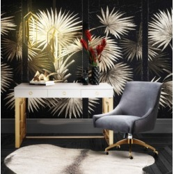 TOV Furniture Beatrix Gray Office Swivel Chair, Black/Gray