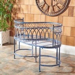 Safavieh Lara Kissing Bench, Mossy Blue found on Bargain Bro from Ashley Furniture for USD $258.39