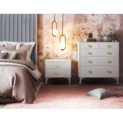 TOV Furniture Divine Nightstand, White