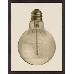 Giclee Vintage Bulb Wall Art, Brown found on Bargain Bro Philippines from Ashley Furniture for $169.99