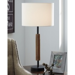 Maliny Table Lamp (Set of 2), Black/Brown found on Bargain Bro from Ashley Furniture for USD $50.15