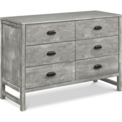 Davinci Fairway 6 Drawer Double Dresser, Gray