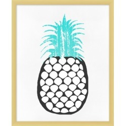 Giclee Perky Pineapple Wall Art, Blue/White/Black found on Bargain Bro India from Ashley Furniture for $86.99