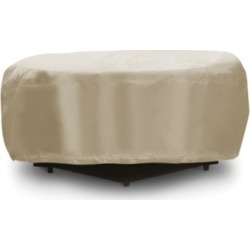 Patio Round Fire Pit Table Cover, Tan