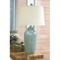 Saher Table Lamp, Green found on Bargain Bro Philippines from Ashley Furniture for $66.99
