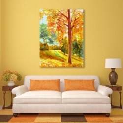 Autumn Park Wood 24X36 Metal Wall Art, Orange found on Bargain Bro India from Ashley Furniture for $269.99