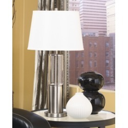 Norma Table Lamp (Set of 2), Silver Finish found on Bargain Bro Philippines from Ashley Furniture for $86.99