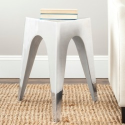 Safavieh Indium Triangle Accent Table, Silver found on Bargain Bro from Ashley Furniture for USD $107.15