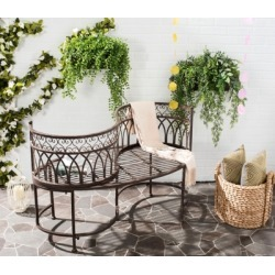 Safavieh Lara Kissing Bench, Rustic Brown found on Bargain Bro from Ashley Furniture for USD $258.39