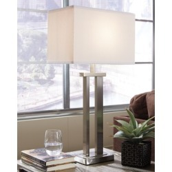 Aniela Table Lamp (Set of 2), Silver Finish found on Bargain Bro Philippines from Ashley Furniture for $78.99