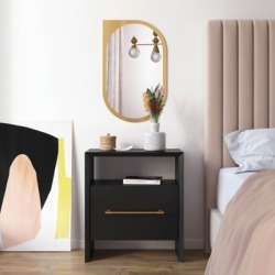 TOV Furniture Libre Nightstand, Black