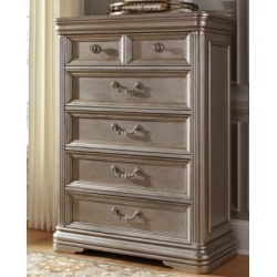 Birlanny Chest of Drawers, Silver
