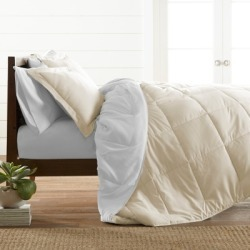 Reversible King/California King Down Alternative Comforter, Ivory/White found on Bargain Bro Philippines from Ashley Furniture for $64.99
