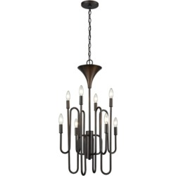 Eight Light Chandelier Oil Rubbed Bronze Finish, Oil Rubbed Bronze