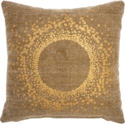 Modern Metallic Eclipse Life Styles Beige Pillow, Beige/Gold found on Bargain Bro India from Ashley Furniture for $27.99