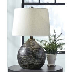 Maire Table Lamp, Black/Gold Finish found on Bargain Bro from Ashley Furniture for USD $61.55