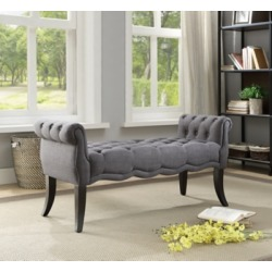 Erika Roll Arm Bench, Charcoal