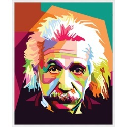 Giclee Colorblock Einstein Wall Art, Multi found on Bargain Bro Philippines from Ashley Furniture for $252.99