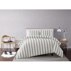 Striped 3-Piece King Comforter Set, Ivory found on Bargain Bro Philippines from Ashley Furniture for $79.99