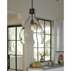 Avalbane Pendant Light, Clear/Gray found on Bargain Bro India from Ashley Furniture for $135.99