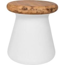 Safavieh Button Indoor/Outdoor Modern Concrete Accent Table, White/Brown found on Bargain Bro from Ashley Furniture for USD $139.83