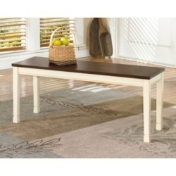 Whitesburg Dining Room Bench, Brown/Cottage White