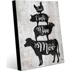 Barnyard Sounds Delta 20X24 Metal Wall Art, Black/Gray/White found on Bargain Bro India from Ashley Furniture for $179.99
