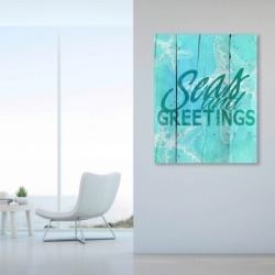 Sea and Greetings - Cerulean 11X14 Metal Wall Art, Green/White found on Bargain Bro India from Ashley Furniture for $104.99