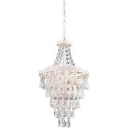 Clear Crystal Pendant Lamp, Antique White found on Bargain Bro from Ashley Furniture for USD $139.83