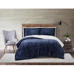 Velvet 3-Piece King Comforter Set, Indigo found on Bargain Bro Philippines from Ashley Furniture for $65.99