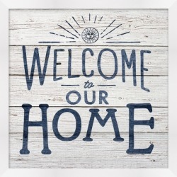 Giclee Welcome to Our Home Wall Art, Blue/White found on Bargain Bro from Ashley Furniture for USD $41.03