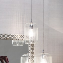 Silhouette Brass Pendant, Clear found on Bargain Bro India from Ashley Furniture for $264.99