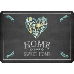 "Home Accents Premium Comfort 1'10"" x 2'7"" Home Sweet Home Mat, Black"