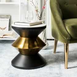 Safavieh Azizi Stone Top Accent Table, Black/Gold found on Bargain Bro from Ashley Furniture for USD $111.71