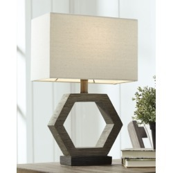 Marilu Table Lamp, Gray/Brown found on Bargain Bro from Ashley Furniture for USD $30.39