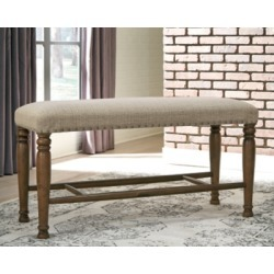 Lettner Dining Room Bench, Gray/Brown