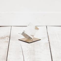 Mercana Small Glass Cube Sculpture, Gold