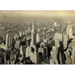 Giclee City Scape Wall Art, Gray/White found on Bargain Bro India from Ashley Furniture for $225.99
