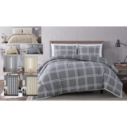 Plaid 3-Piece King Quilt Set, Gray found on Bargain Bro Philippines from Ashley Furniture for $87.99