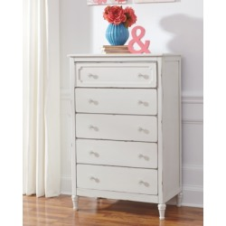 Faelene Chest of Drawers, Chipped White