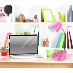 Home Accents LimeLights Gooseneck Organizer Desk Lamp w Device Holder, Pink, Pink found on Bargain Bro from Ashley Furniture for USD $25.07
