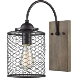 Wooden Eagle's Rest Wall Sconce, Oil Rubbed Bronze found on Bargain Bro from Ashley Furniture for USD $73.71